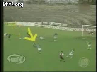 Удар молнии в футбольное поле